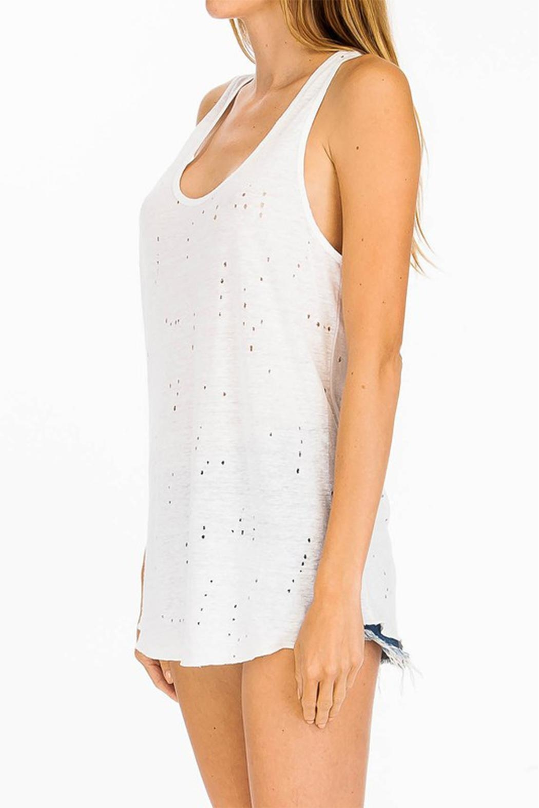 Olivaceous Distressed Tank - Front Full Image