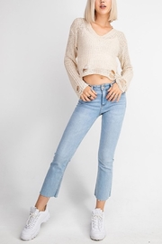 Le Lis Distressed V-Neck Sweater - Product Mini Image