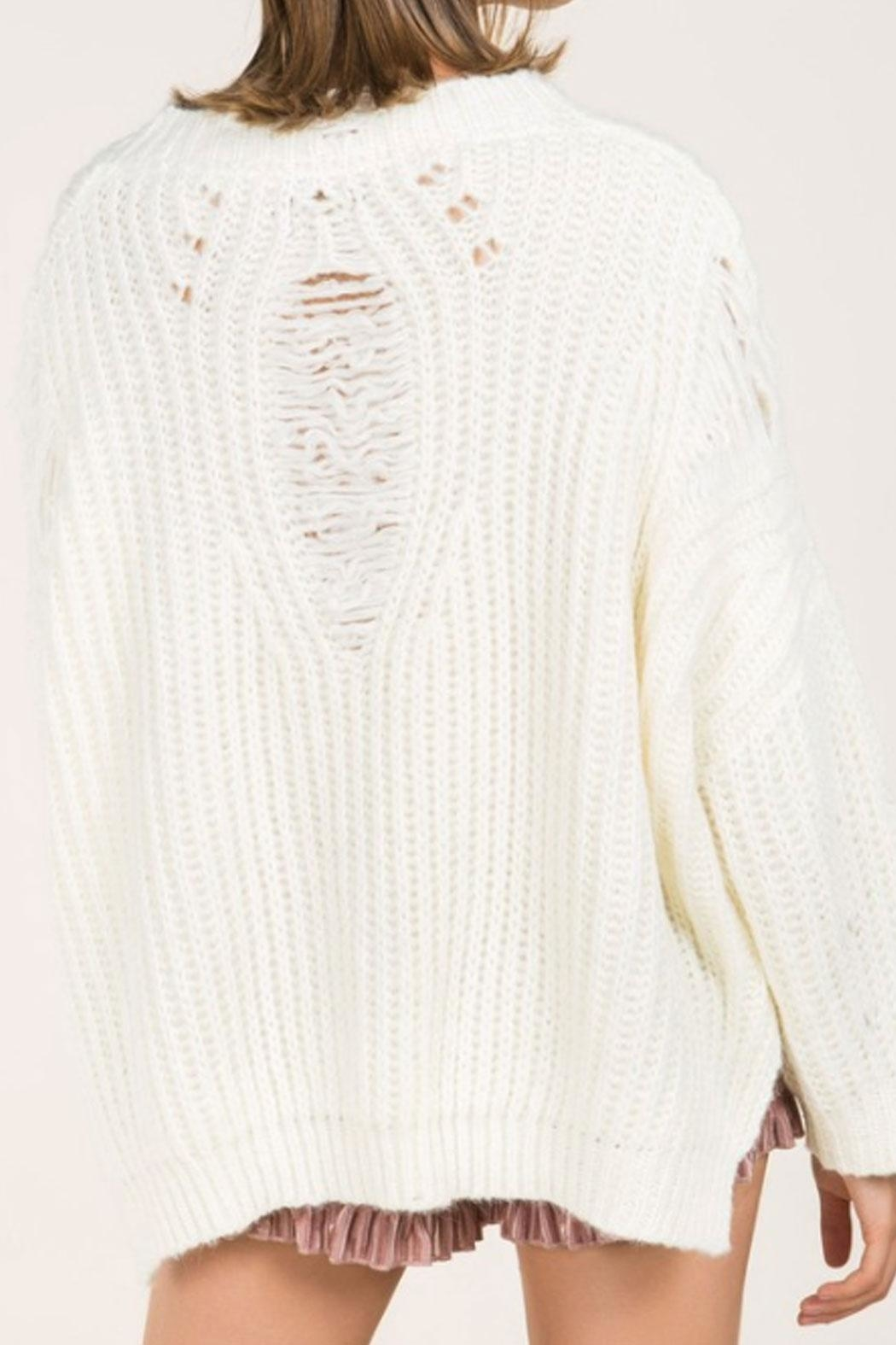 513acc0a58 POL Distressed V-Neck Sweater from New York by Runway   Rose ...