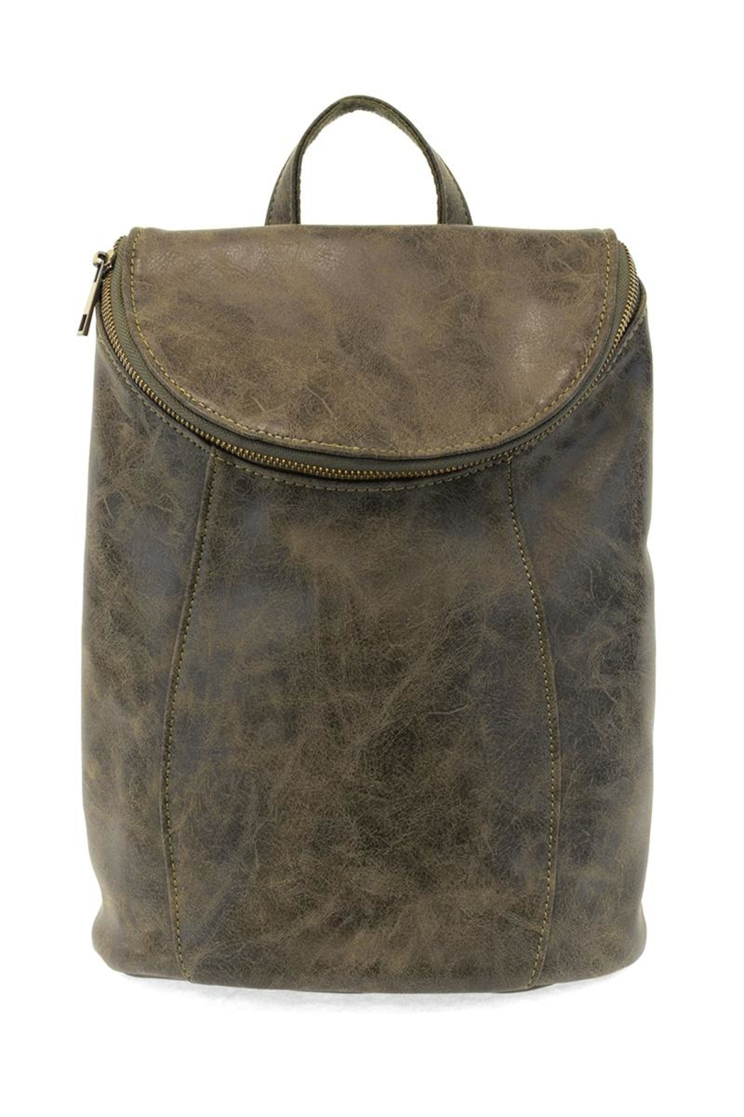 Joy Accessories Distressed Vegan Backpack - Front Cropped Image