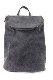 Joy Accessories Distressed Vegan Backpack - Front cropped