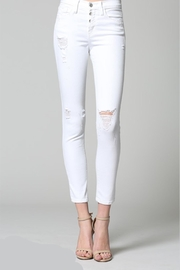 Flying Monkey Distressed White Denim - Product Mini Image