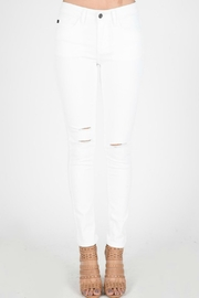 KanCan Distressed White Denim - Product Mini Image