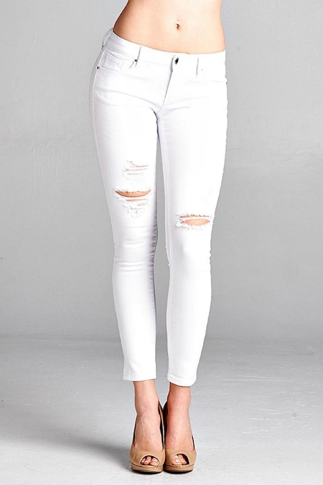 Simply Chic Distressed White Jeans from Seattle by SIMPLY CHIC ...