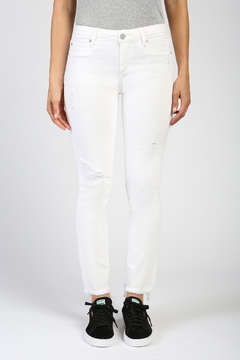 Shoptiques Product: Distressed White Skinny