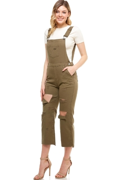 Shoptiques Product: Distressed Woven Overalls