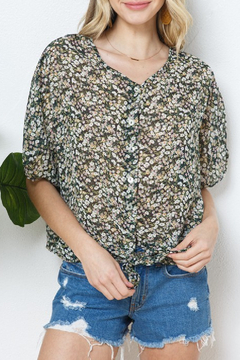 Cozy Casual Ditsy Chiffon Top - Product List Image