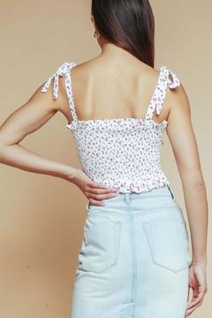 Olivaceous Ditsy-Floral Crop Top - Alternate List Image