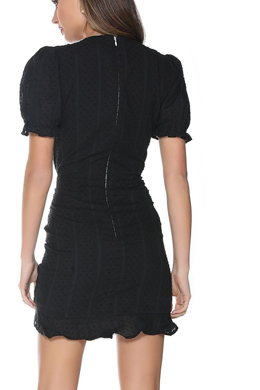Runaway The Label Ditsy Mini Dress - Side Cropped Image