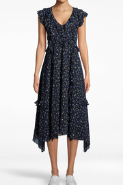 Nicole Miller Ditsy Ruffle Dress - Front cropped