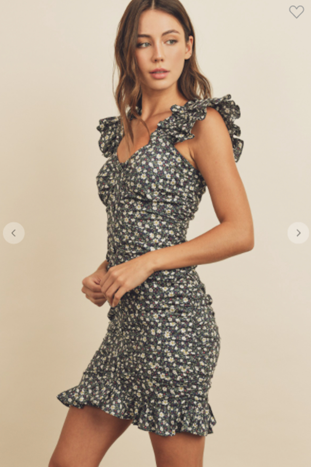 dress forum Ditzy Daisy Ruched Floral Dress - Front Full Image