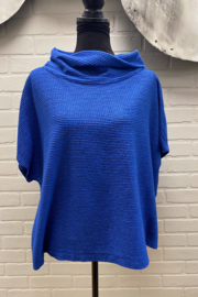Elemente Clemente Electric Blue Top with cowl Neck - Product Mini Image