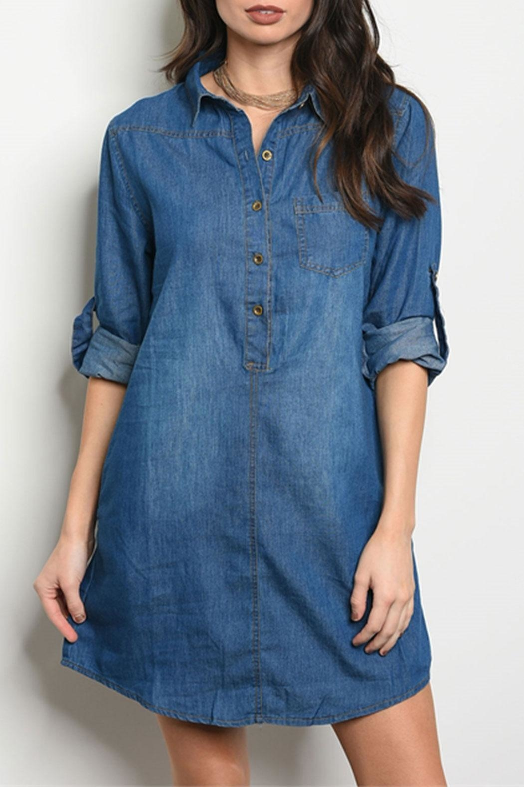 DIVA FASHION Blue Denim Dress - Main Image