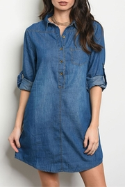 DIVA FASHION Blue Denim Dress - Product Mini Image