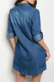 DIVA FASHION Blue Denim Dress - Front full body