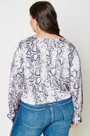 Hayden Los Angeles DIVAS ANDREA SNAKESKIN BLOUSE - Product Mini Image