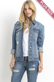 Madison Divas Oversized Dark Denim Jacket - Product Mini Image