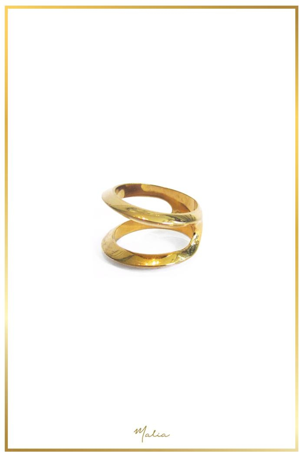 Malia Jewelry Divided Goldplated Ring - Main Image