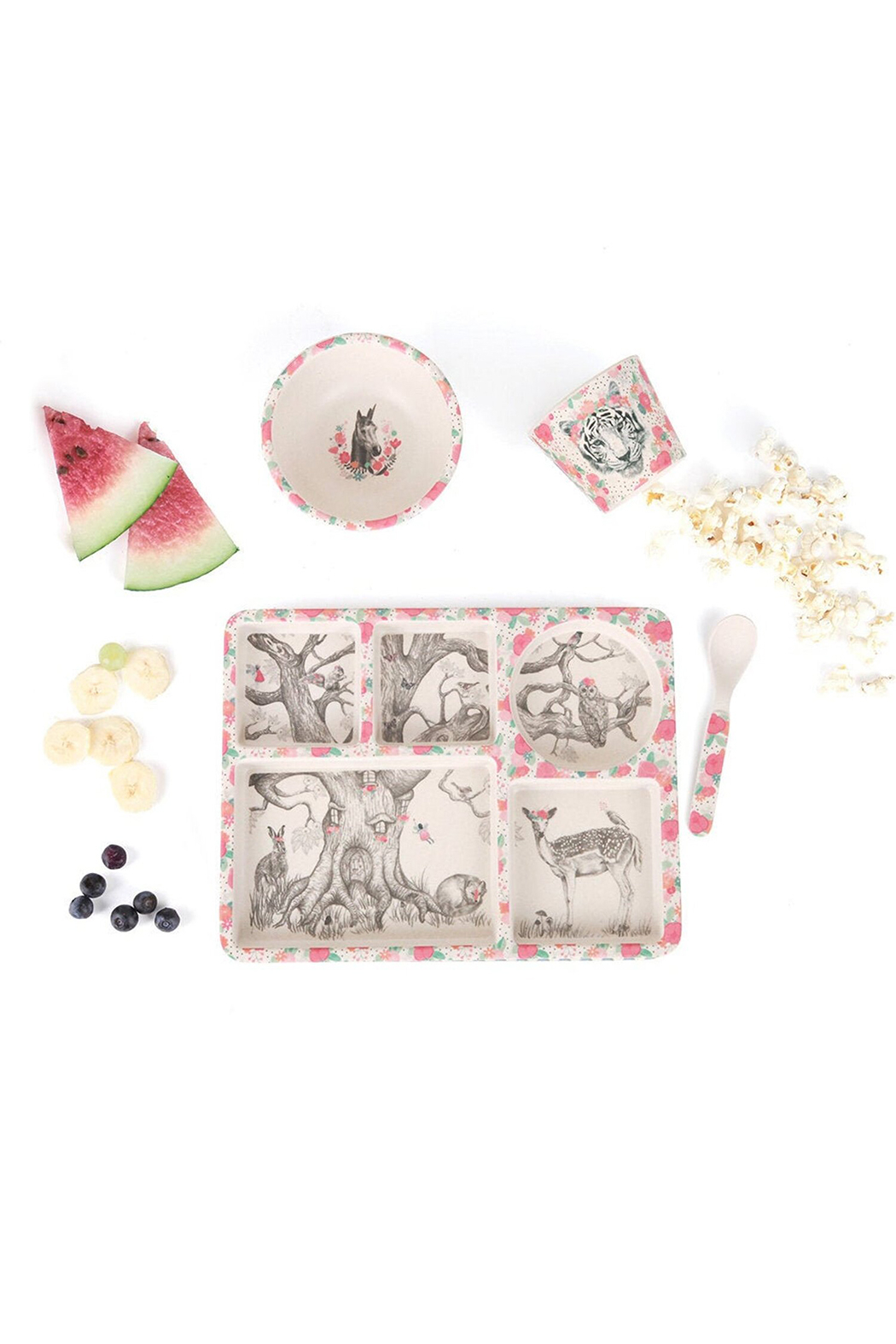 Love Mae Divided Plate Set - Enchanted Forest - Main Image