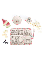 Love Mae Divided Plate Set - Enchanted Forest - Front cropped