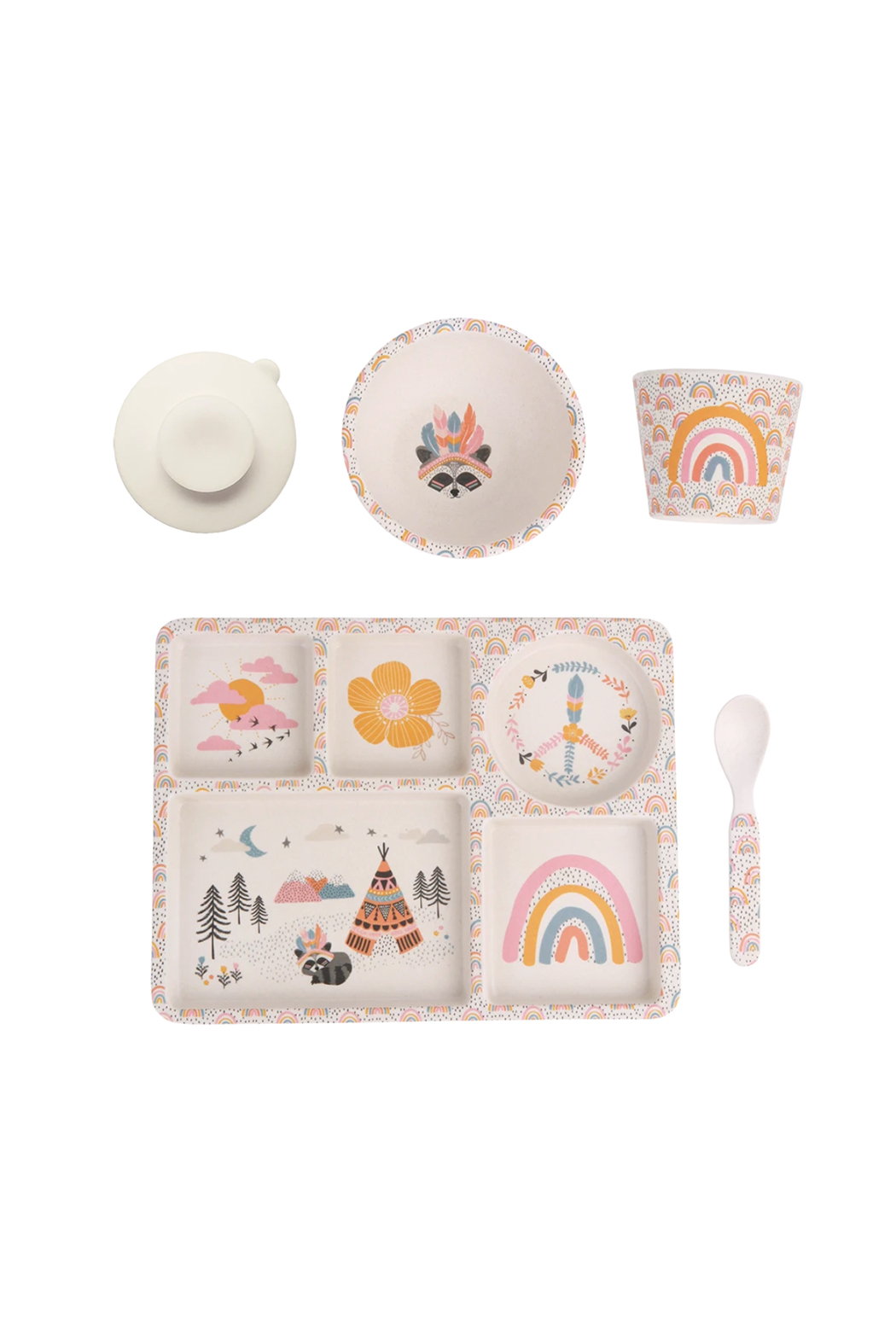 Love Mae Divided Plate Set - Gypsy Girl - Front Full Image