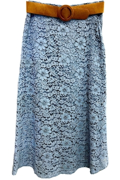 Dixie Blue Lace Skirt - Product List Image
