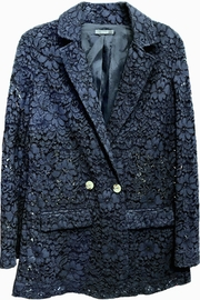 Dixie Navy Lace Blazer - Front cropped
