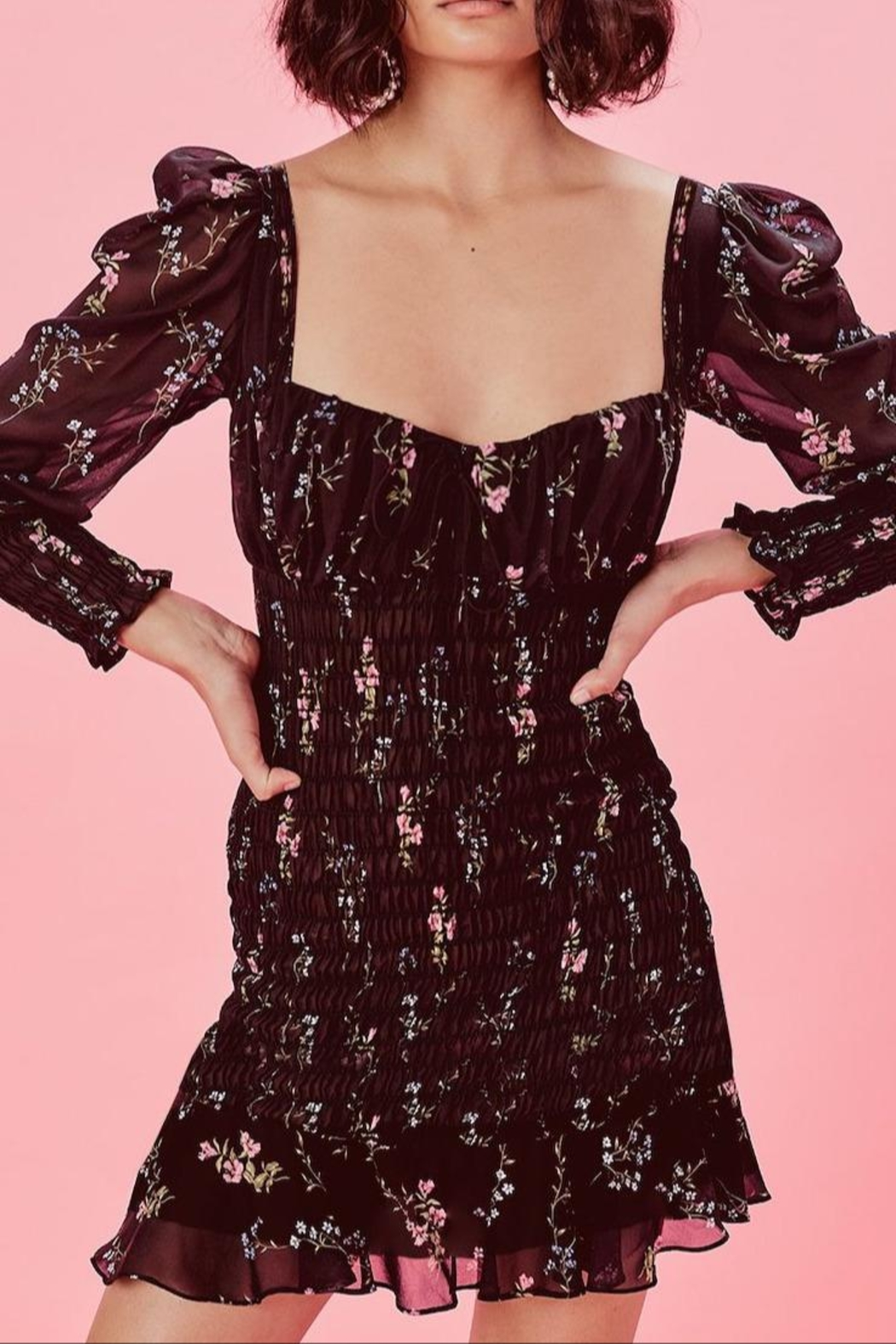 FOR LOVE & LEMONS Dixon Dress - Side Cropped Image