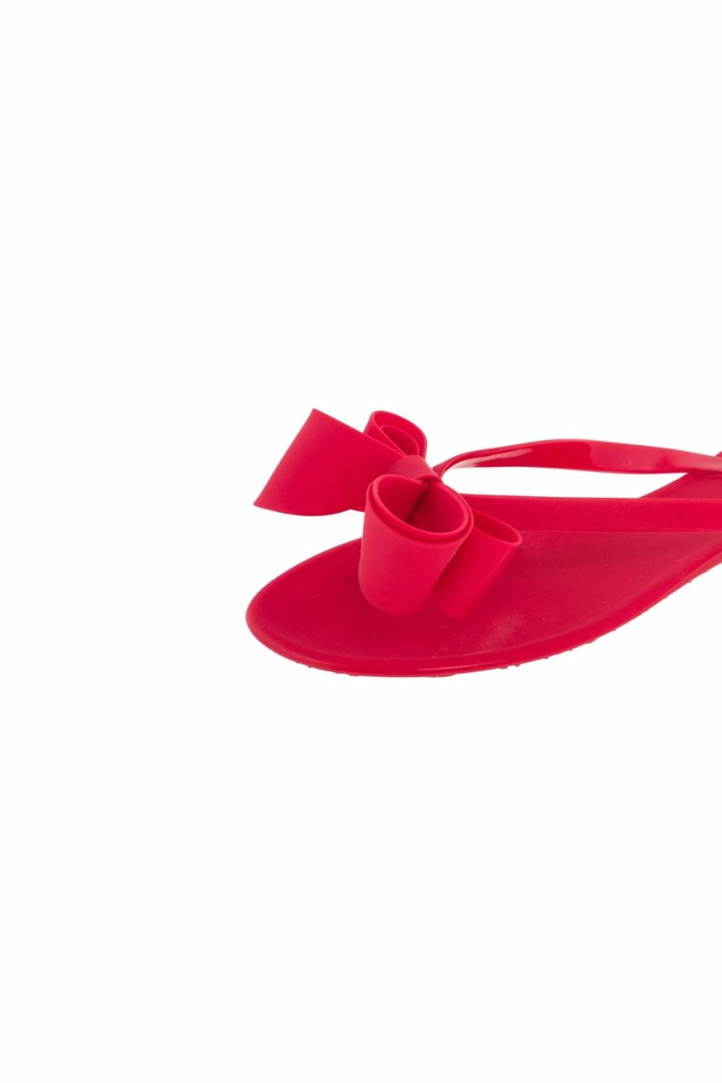 Dizzy Jelly Red Sandals - Front Full Image