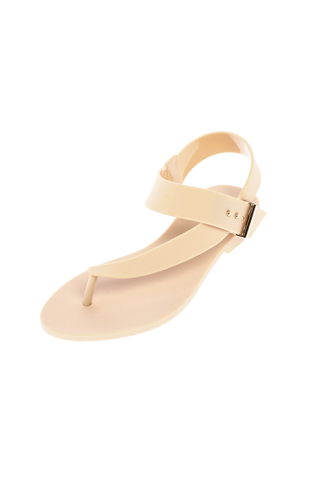 f381e4a76c03 Dizzy Beige Strappy Jelly Sandal from New York by Dor L Dor — Shoptiques