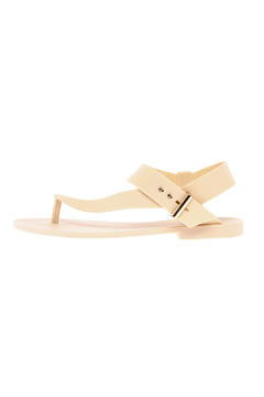 Shoptiques Product: Beige Strappy Jelly Sandal