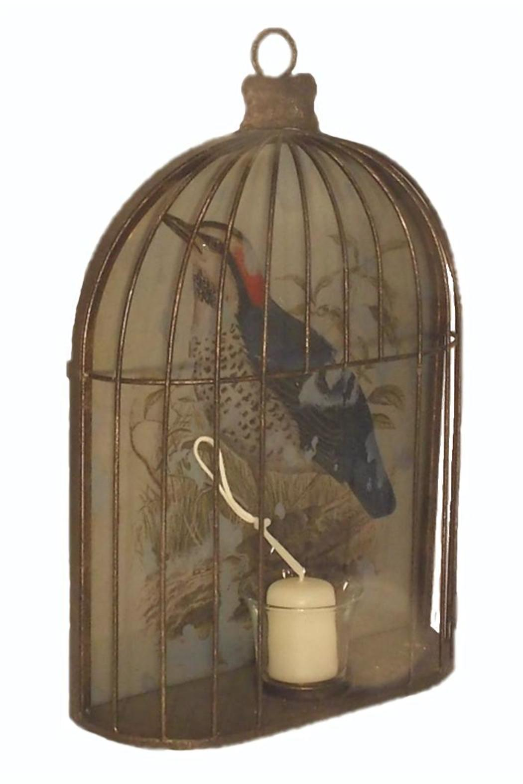 Djuna Birdcage Candle Holder - Front Full Image