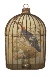 Shoptiques Product: Birdcage Candle Holder - Front cropped