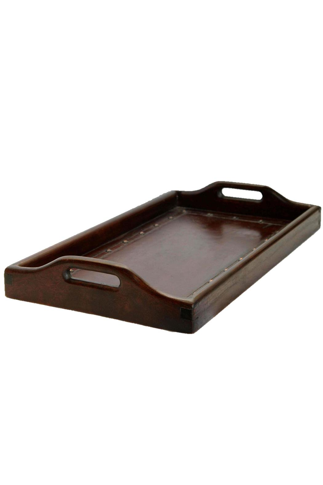 Djuna Brown Leather Tray - Main Image