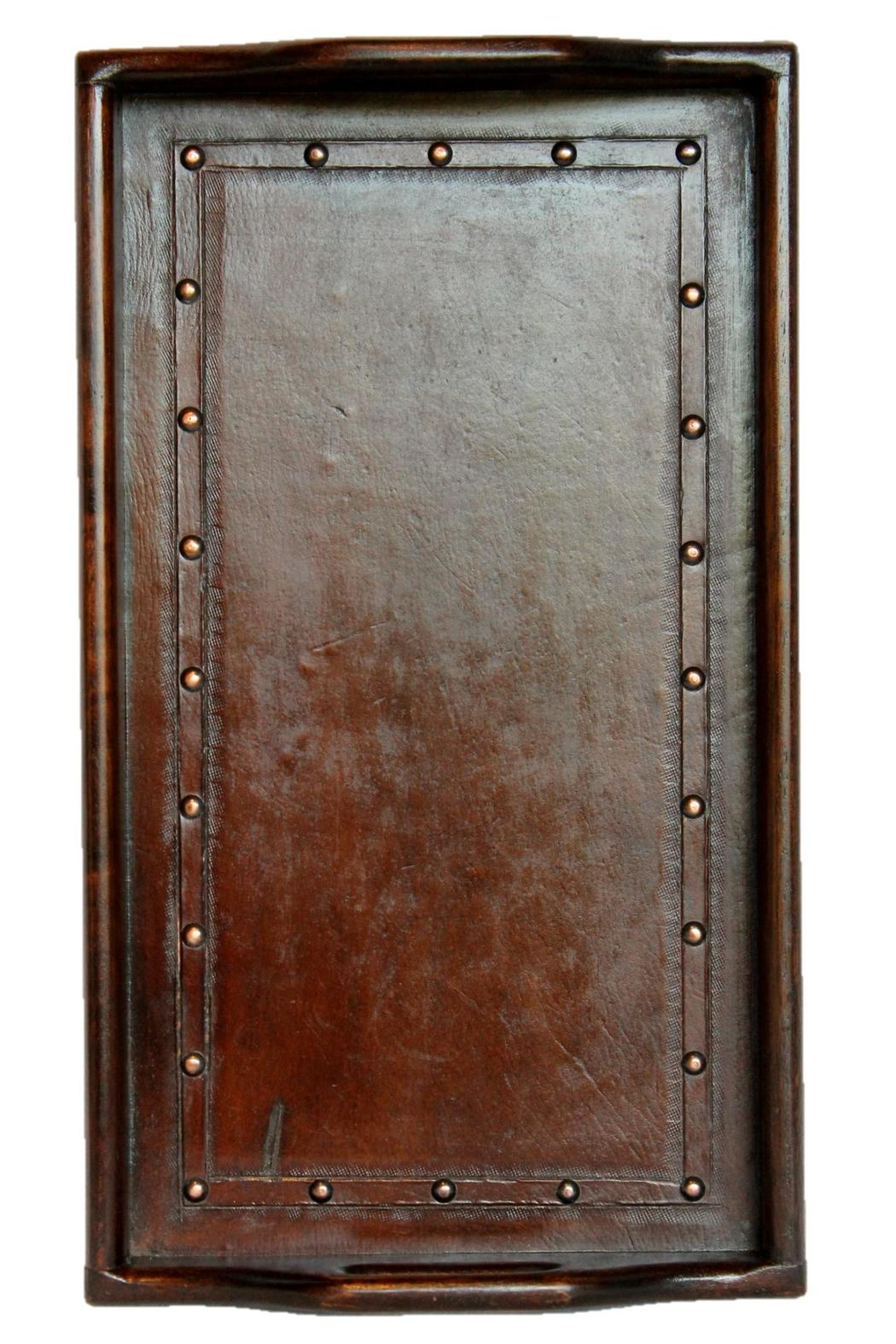 Djuna Brown Leather Tray - Front Cropped Image
