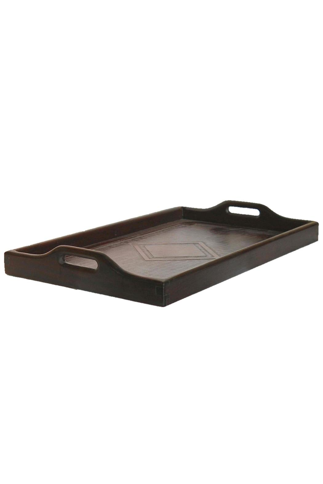 Djuna Brown Leather Tray - Front Full Image