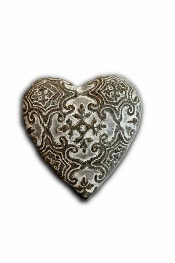 Shoptiques Product: Etched Concrete Heart - main