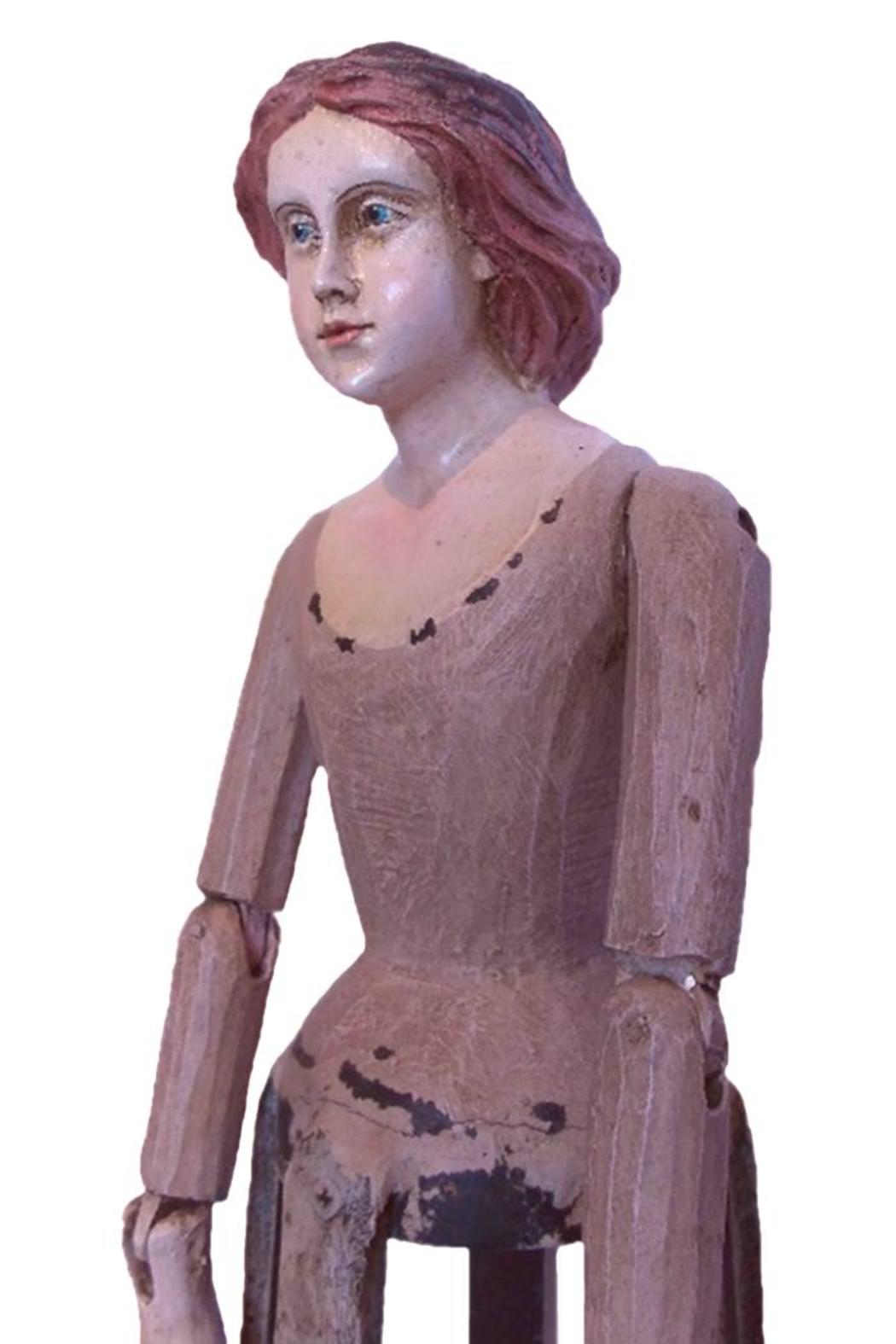 Djuna Hand-Painted Wooden Doll - Side Cropped Image