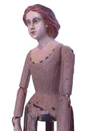 Djuna Hand-Painted Wooden Doll - Side cropped