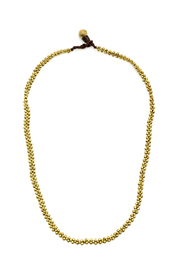 Djuna Mosaic Brass Beads - Front cropped