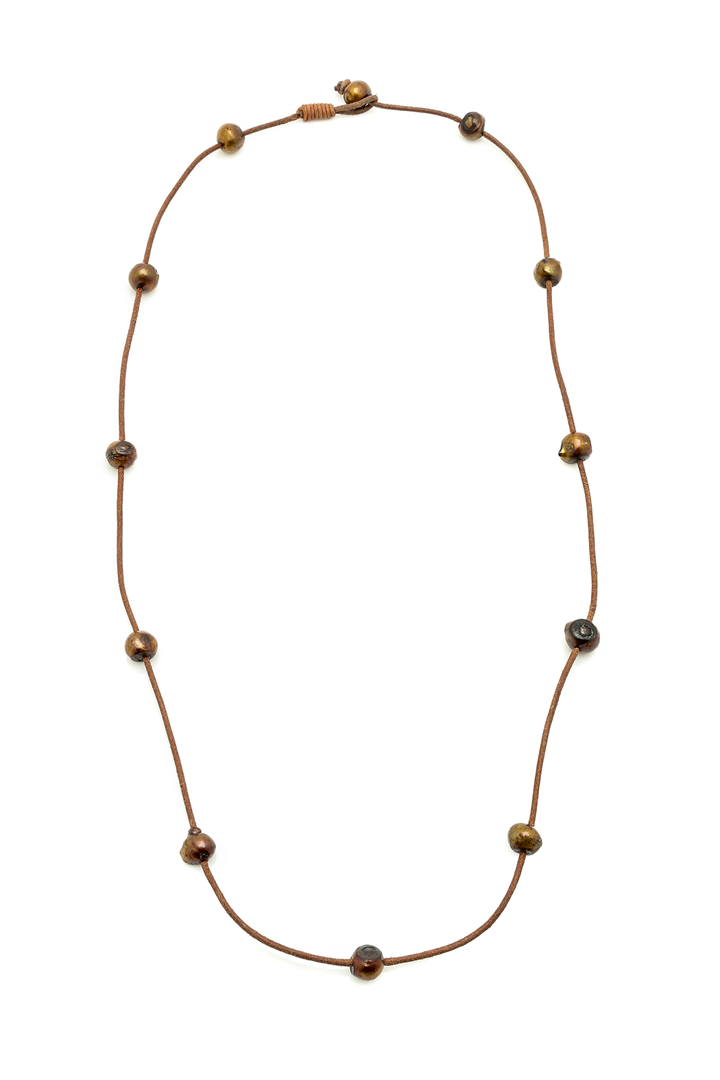 Djuna Chocolate Pearl Necklace - Main Image