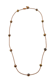 Djuna Chocolate Pearl Necklace - Product Mini Image