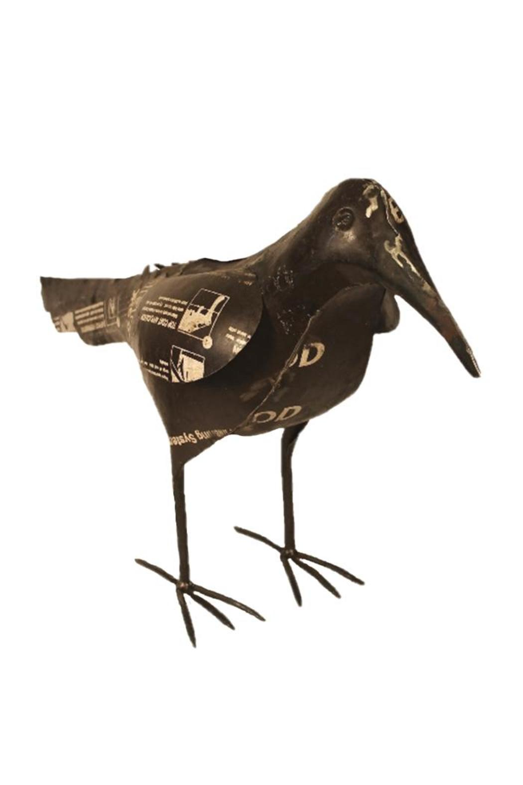 Djuna Recycled Crow Sculpture - Front Cropped Image
