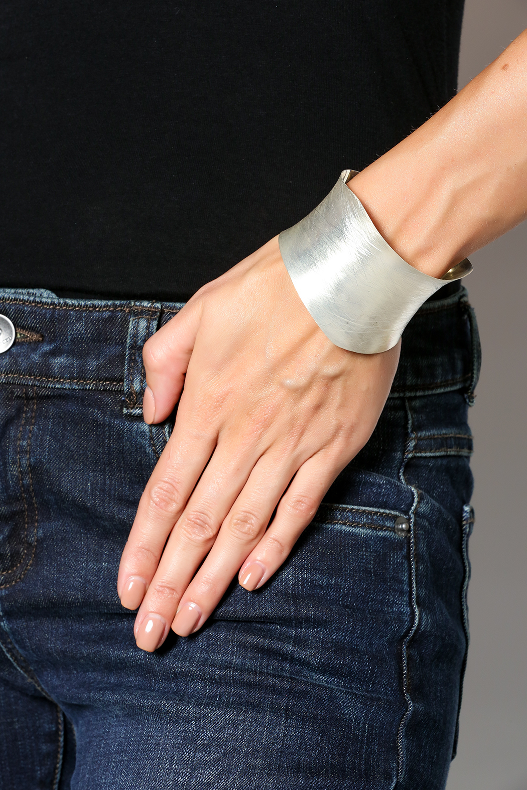 Djuna Silver Plated Cuff - Back Cropped Image