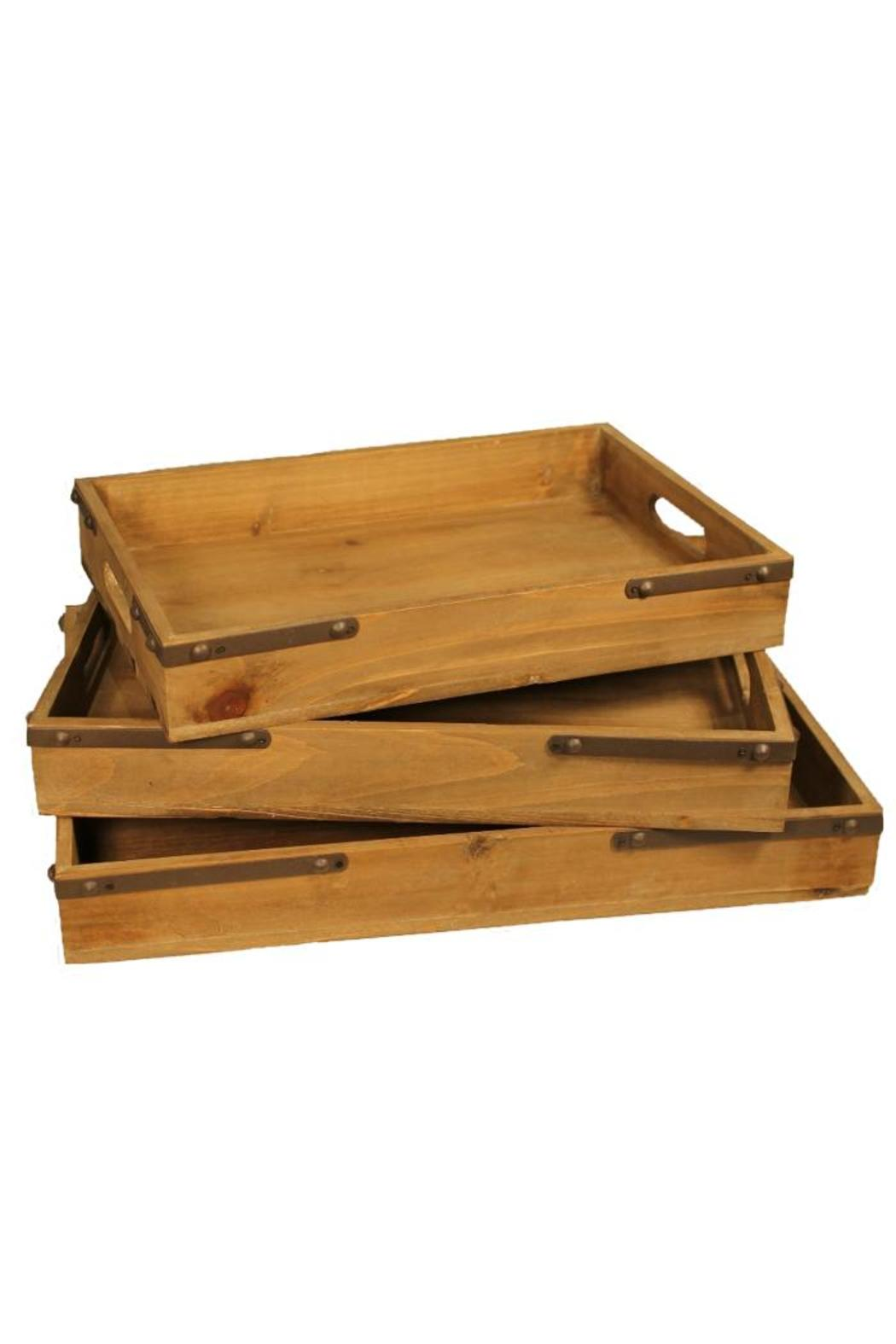 Djuna Wooden Tray Small - Front Cropped Image