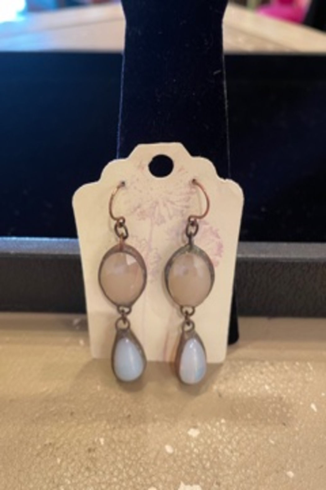 DKM Jewelry DKM stone and opaline earrings - Main Image