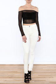 DL 1961 White Skinny Jeans - Front full body