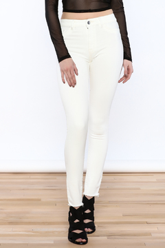 DL 1961 White Skinny Jeans - Product List Image