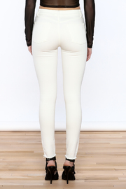 DL 1961 White Skinny Jeans - Back cropped