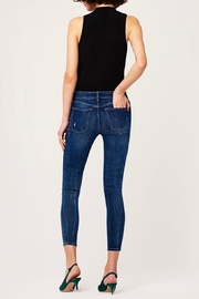 DL1961 Destructed Knee Skinny Jeans - Back cropped